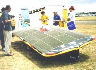 Aurora 101 soaking up its fuel supply at Formula SAE