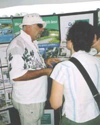 Aurora member Bill Bennett works the ATA display