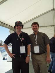 Stuart Charity and Rob Chalker [from SAE International]