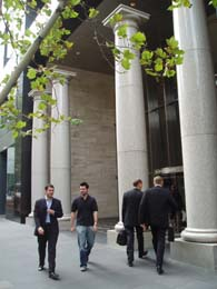 The entrance to 101 Collins Street