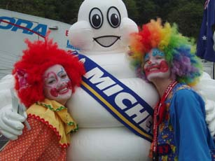 Michelin's 'Bibendum' pleased the crowd