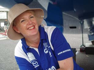 Aurora team member and new solar car driver Sally Forsyth