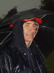 Race official beats the rain